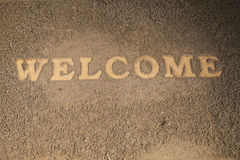 Welcome Old doormat. Stock Images