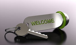 Welcome in our hotel rent a room Stock Photos