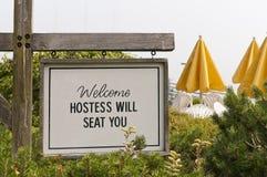 Welcome outdoor resort cafe Stock Photos