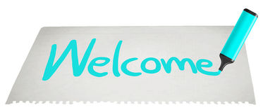 Welcome paint Royalty Free Stock Images