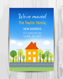 Welcome party invitation card. New home party flyer. Stock Images