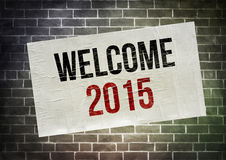 WELCOME 2015. Poster concept illustration Stock Photo