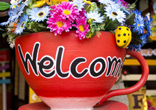 Welcome Pottery Royalty Free Stock Photography