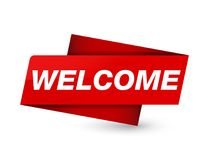 Free Welcome Premium Red Tag Sign Royalty Free Stock Photo - 123104955