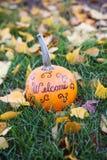 Welcome Pumpkin Stock Photos