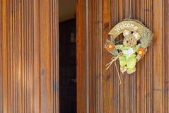 Welcome. Rabbit door, open door Stock Image