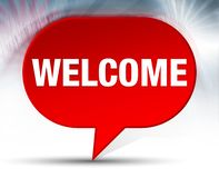Welcome Red Bubble Background royalty free illustration