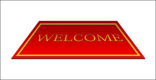 Welcome red carpet Royalty Free Stock Images