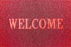 Welcome Red Mat. Welcome Carpet Background. Welcome Red Sign Royalty Free Stock Photos
