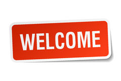 Welcome red square sticker Royalty Free Stock Image