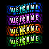 Welcome ribbons Stock Image