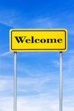 Welcome road sign Royalty Free Stock Photography