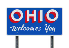 Welcome road sign of the state of Ohio Stock Photo