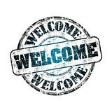 Welcome rubber stamp Stock Image