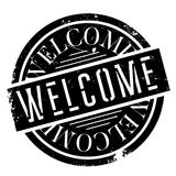 Welcome rubber stamp Royalty Free Stock Photos