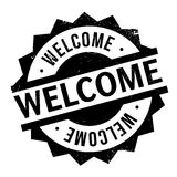 Welcome rubber stamp Royalty Free Stock Images