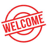 Welcome rubber stamp Royalty Free Stock Photo