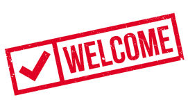 Welcome rubber stamp Stock Photos