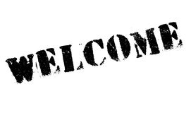 Welcome rubber stamp Stock Photo