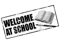 Welcome at school stamp Royalty Free Stock Photo