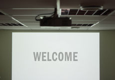 Welcome screen Royalty Free Stock Photo