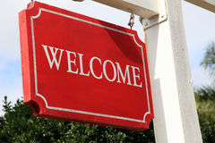 Welcome sign Royalty Free Stock Photos