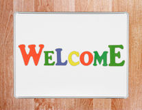 Welcome sign Stock Photo