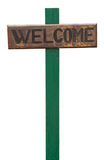Welcome sign. Wooden welcome sign isolated on a white background (vacations concept Royalty Free Stock Images