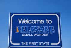Welcome sign. Welcome to Delaware Sign US Royalty Free Stock Photos