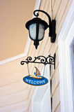 Welcome sign. Decorative welcome sign at the house entrance Royalty Free Stock Image