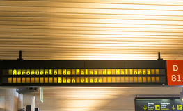 Welcome sign at airport. Welcome to Palma de Mallorca Airport Sign Stock Photo