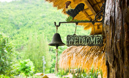 Welcome Sign And Bell Stock Photography