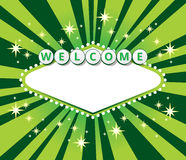 Welcome sign background Stock Images