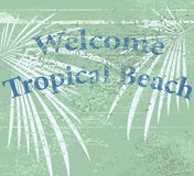 Welcome sign on the beach Stock Image