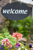 Welcome sign - bed & breakfast Stock Image