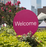 Welcome Sign Stock Photography