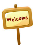 Welcome sign on board Royalty Free Stock Photo