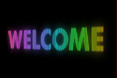 Welcome sign board Stock Photos