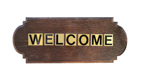 Welcome sign board. Isolated on white background Royalty Free Stock Photos
