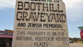 Boothill Graveyard Welcome Sign in Tombstone, Arizona