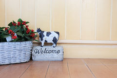 Welcome sign in cafe Stock Images