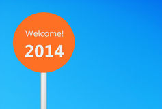 Welcome 2014 Stock Image