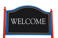 Welcome Sign with clipping path Royalty Free Stock Photos
