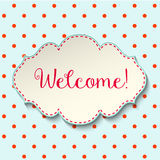 Welcome sign in cottage style, vintage frame  Royalty Free Stock Images
