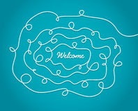 Welcome sign with decoration Royalty Free Stock Photos