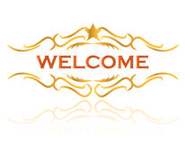 Welcome sign design Royalty Free Stock Photography