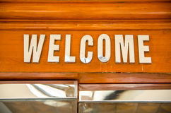 Welcome sign on the door Royalty Free Stock Images
