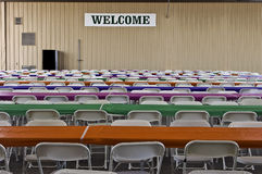 Welcome Sign at an Event Stock Image