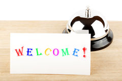 Welcome Sign at Hotel Royalty Free Stock Photography