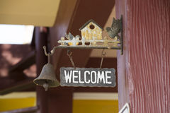 Welcome sign. In the house Royalty Free Stock Photography